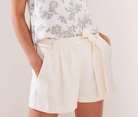 Crepe Tie Waist Shorts