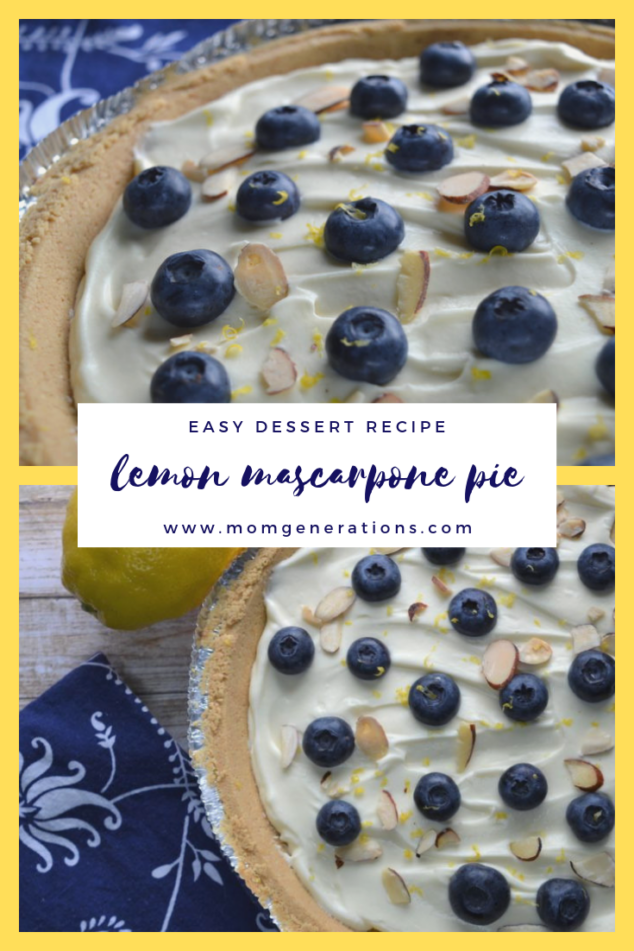 Lemon Mascarpone Pie