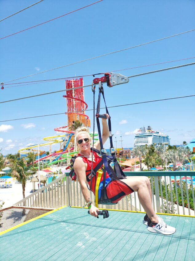 Zip Lining at Royal Caribbean CocoCay