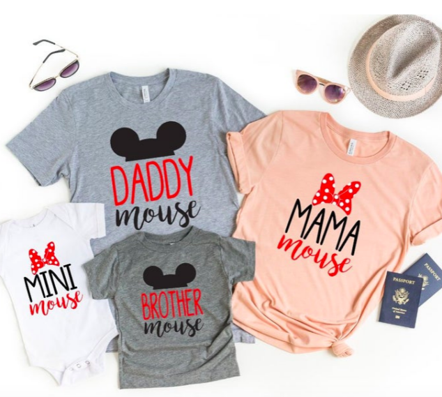 Matching Tees for Mom and Daughter