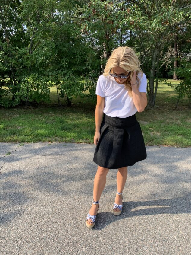 What to Wear with a Black Mini Skirt