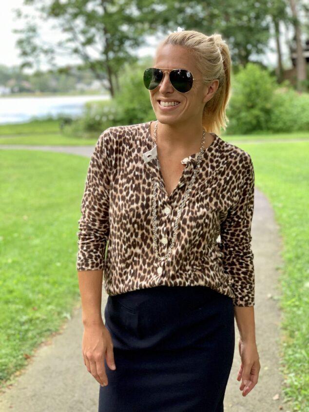 Leopard Cardigan - LOFT