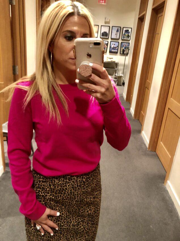Leopard Pencil Skirt
