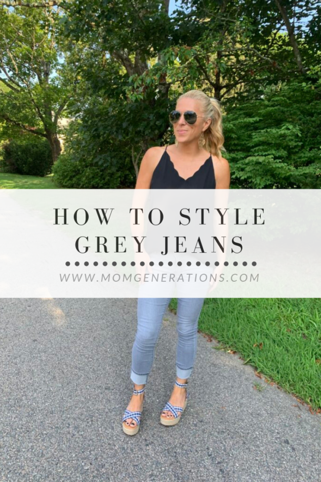 How to Style Gray Jeans