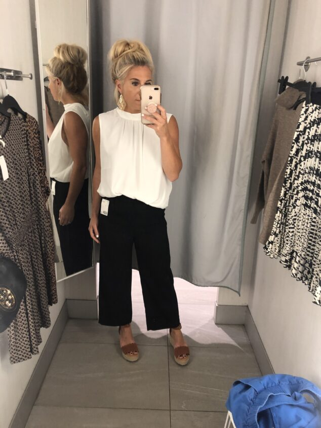 H&M Fall Try On - Black Cropped Pants