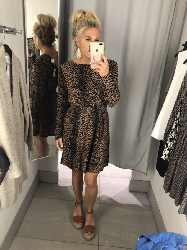 H&M Fall Try On - Leopard Dress
