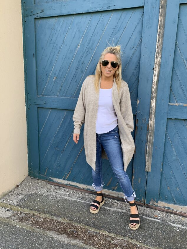 What to Wear with a Long Cardigan Sweater
