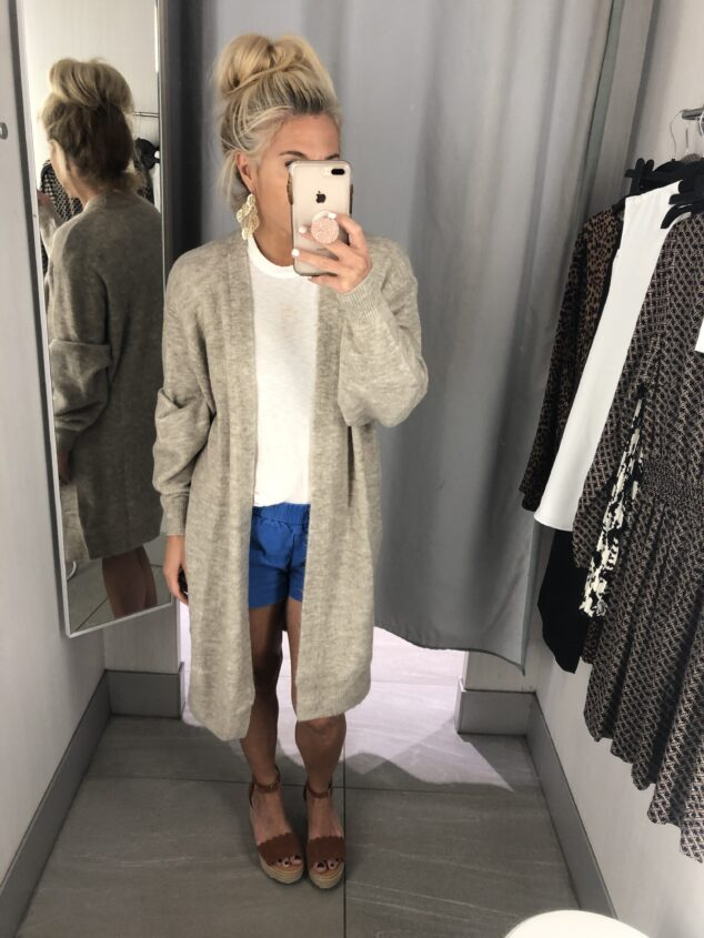 H&M Fall Try On - Long Sweater Cardigan