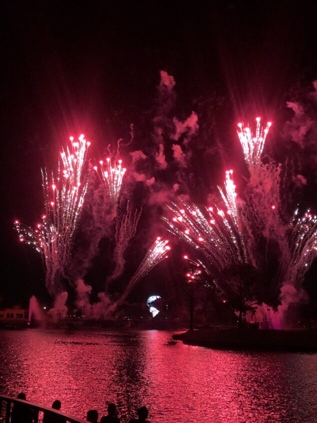 Fireworks at Epcot Food & Wine Festival