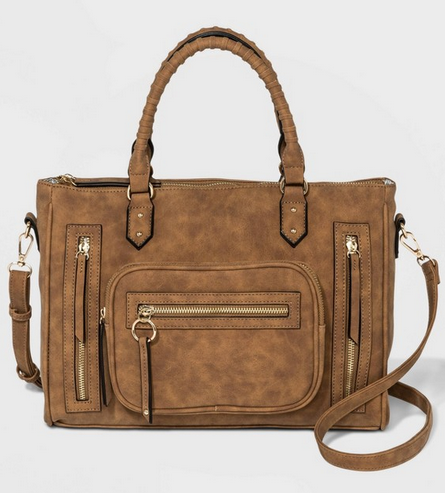 Multi Zip Pocket Satchel Handbag from VR NYC