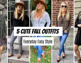 Fall Outfits - 5 easy styles