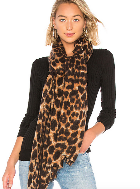 REVOLVE Leopard Scarf Hat Attack brand: Hat Attack