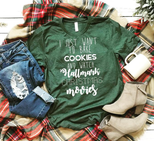 Hallmark Christmas Movies & Bake Cookies and watch Hallmark movies Tshirt