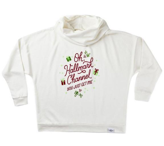 Hallmark Channel You Get Me Women's Cowl Neck Sweatshirt