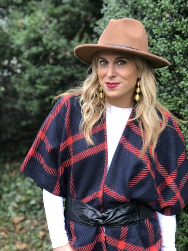 LOFT Fringe Plaid Wrap