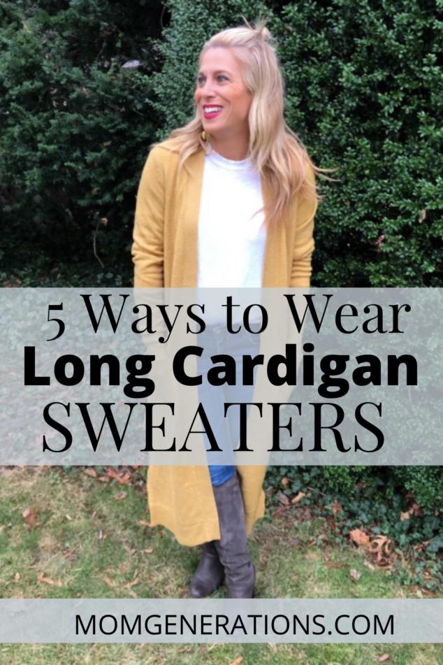 Ways ot Wear Long Cardigan Sweaters