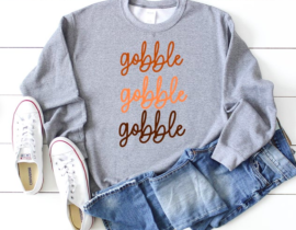 gobble gobble gobble shirt - womens thanksgiving shirt - Thanksgiving shirt women - funny thanksgiving shirt - thanksgiving outfit
