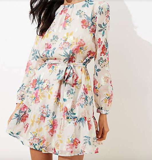 Shimmer Dot Flounce Dress