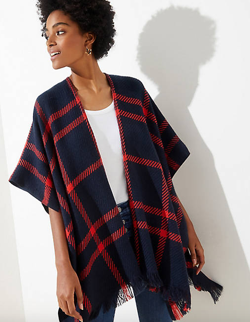 LOFT Plaid Wrap