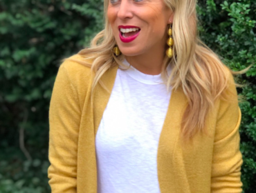 LOFT Yellow Cardigan