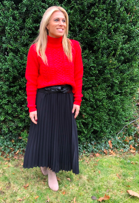Black Pleated Skirt for the Holiday from LOFT