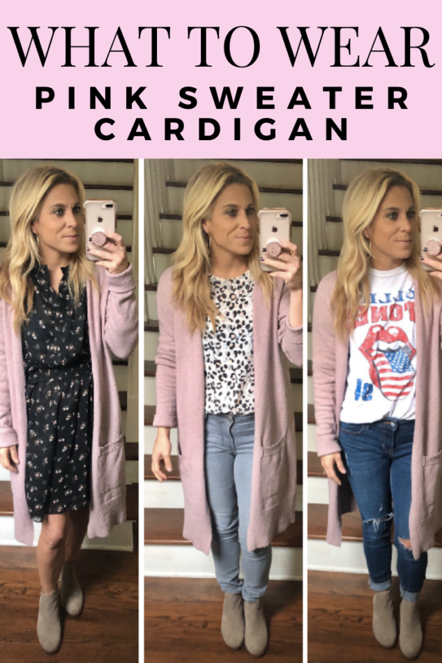 What to Wear with a Pink Sweater Cardigan
