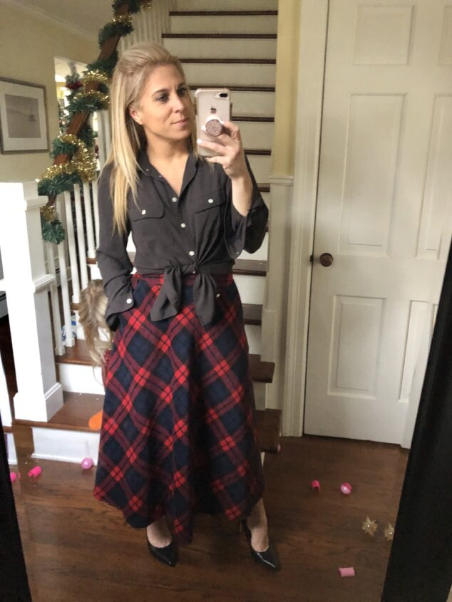 Red Plaid Skirt - 5 Ways to Style