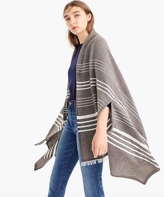J.Crew Gray Cape Scarf