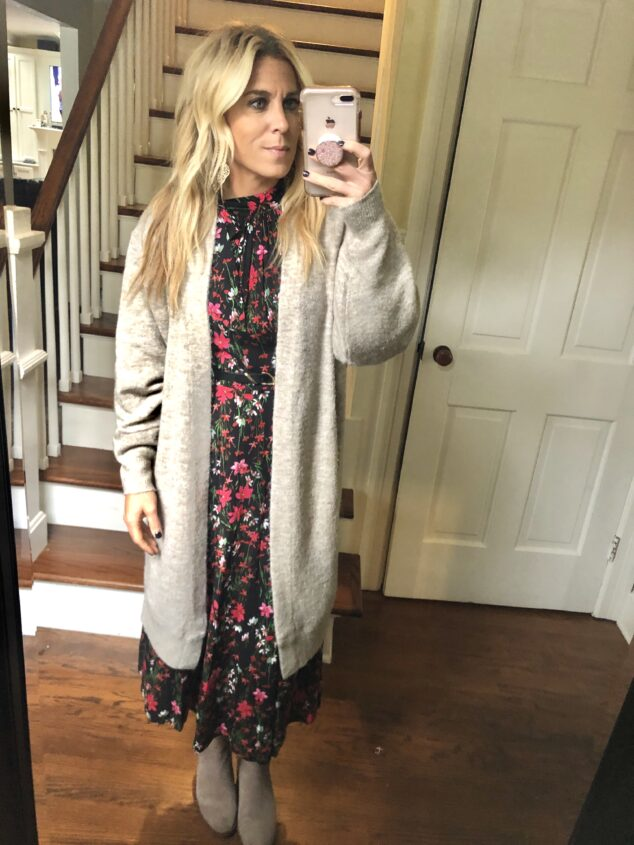 Long cardigan outfit