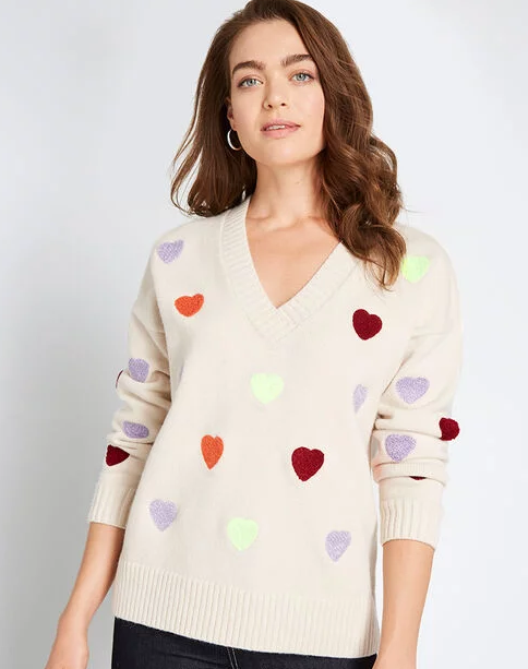 Heart Sweater for Valentine's Day