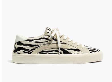 Zebra Shoes - Madewell Zebra Sneakers
