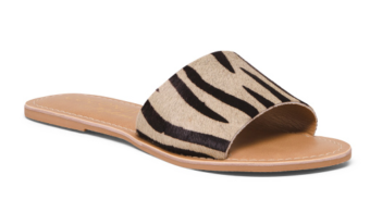 Zebra Haircalf One Band Sandals