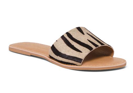 Zebra Haircalf One Band Sandals