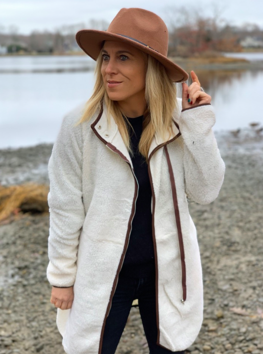 white ladies jacket - casual finds