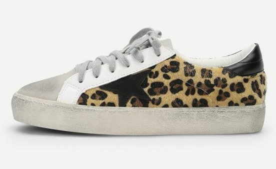 Shein Leopard Print Lace Up Sneakers