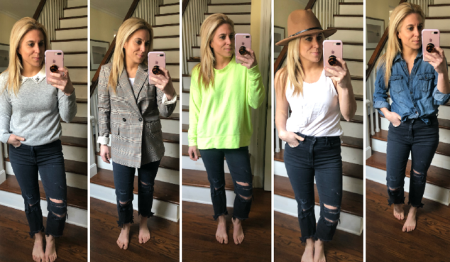 Black Ripped Jeans - How to Style