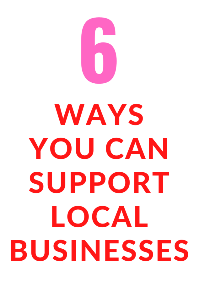 Buy Local - How to Support your Local Small Businesses Right Now