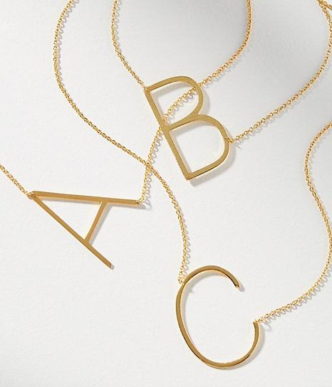 Monogram Jewelry - Top Favorite Monogram Necklaces
