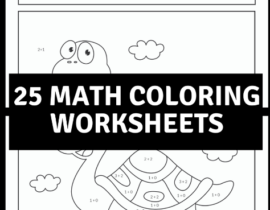 25 Math Coloring Worksheets for Elementary School Kids