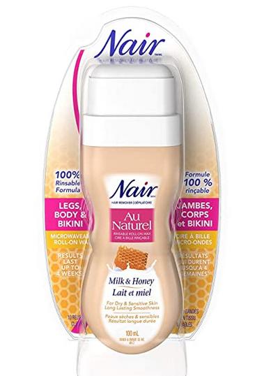 Waxing Supplies - Nair Roll-On Milk and Honey Sugar Wax for Dry & Sensitive Skin