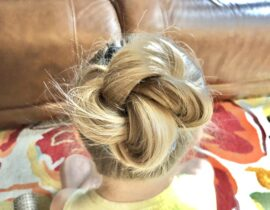 how to do a messy bun with thin hair