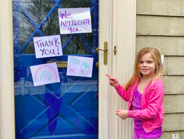 Have your kids check out: DoGoodFromHome.com to come up with their kind act!
