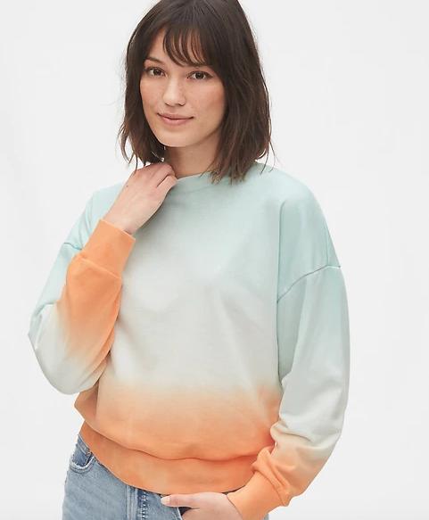 tie dye crew neck sweatshirt
