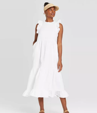 Casual White Dress for the Summer