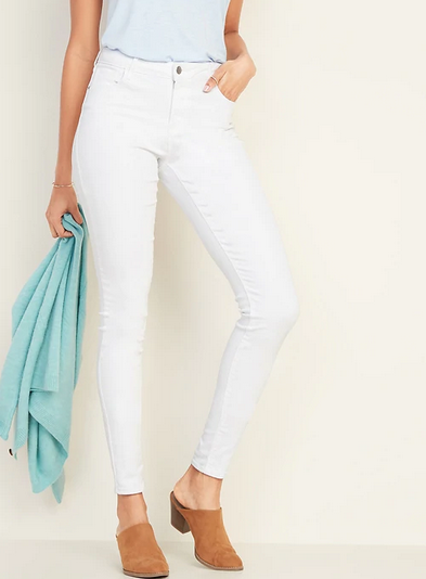 Cheap White Jeans - Old Navy