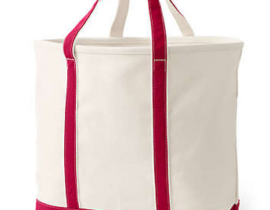 Best Beach Bag - Extra Large Natural Open Top Canvas Tote Bag