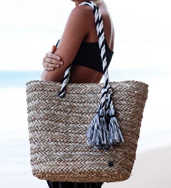Billabong Island Time Straw Tote Bag