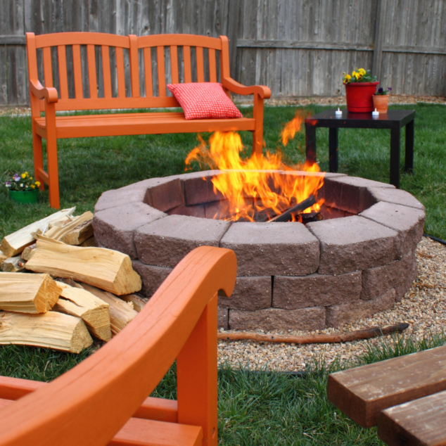 Start the fire pit up in your backyard