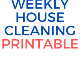 Weekly House Cleaning Printable