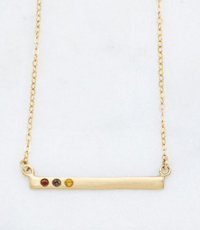 Cross Bar Birthstone